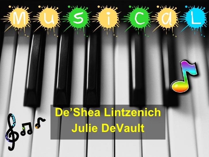 De'Shea Lintzenich Julie DeVault