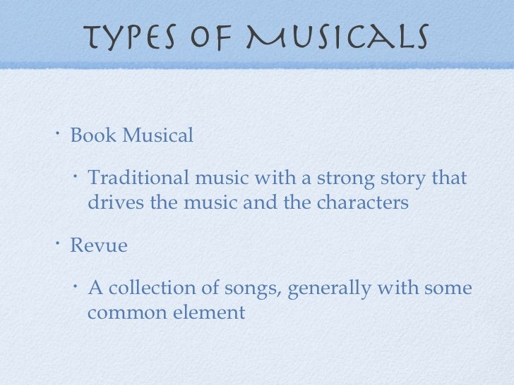 musical theatre powerpoint