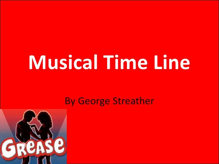 Musical Time Line   By George Streather