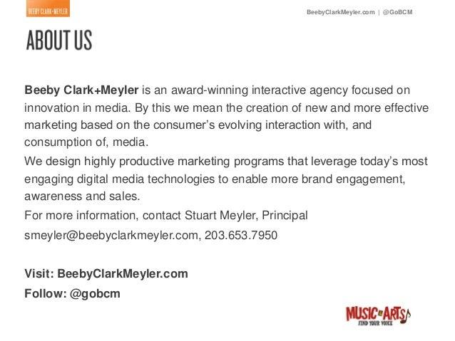 BeebyClarkMeyler.com   @GoBCMBeeby Clark+Meyler is an award-winning interactive agency focused oninnovation in media. By t...