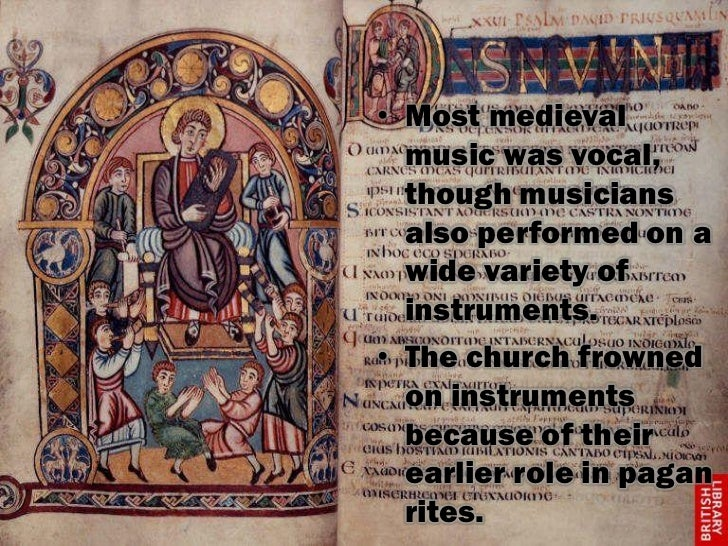 music of the middle ages Music in the middle ages 1 music in the middle ages 2 medieval music  difficulties least surviving material longest period of music history.