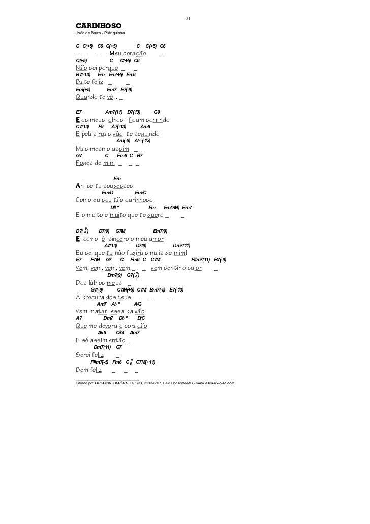 31CARINHOSOJoão de Barro / PixinguinhaC C(+5) C6 C(+5)                            C      C(+5) C6_ _          _ _Meu coraç...