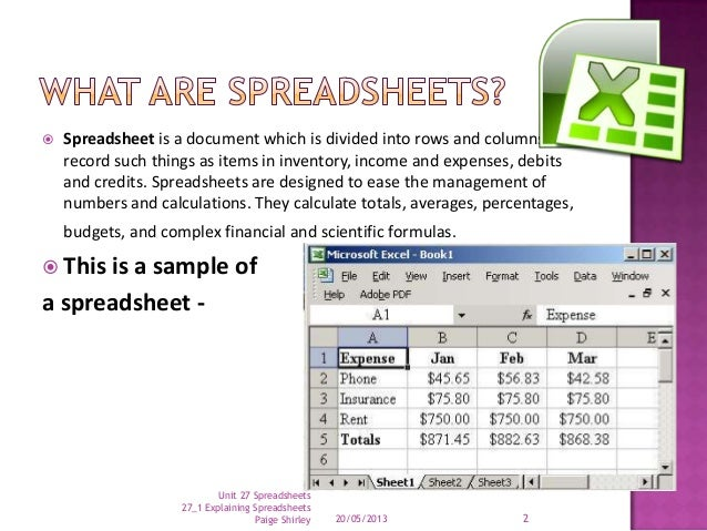 music a s learning spreadsheets