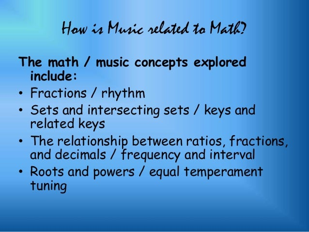 relationship between math and music