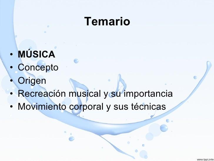 Musica Y Expresion Corporal
