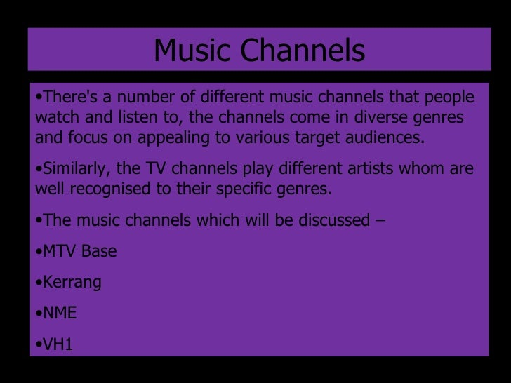 Music Channel Research Final