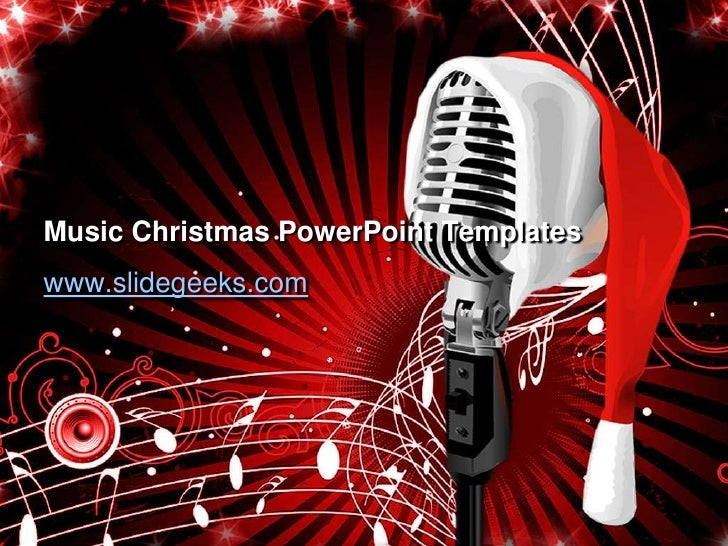music christmas power point templates