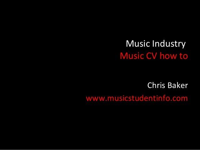 music cv