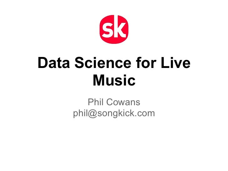 Data Science for Live Music