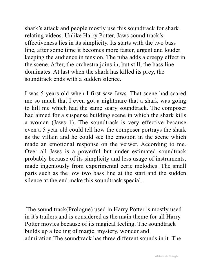 Essays on harry potter and the sorcerer's stone