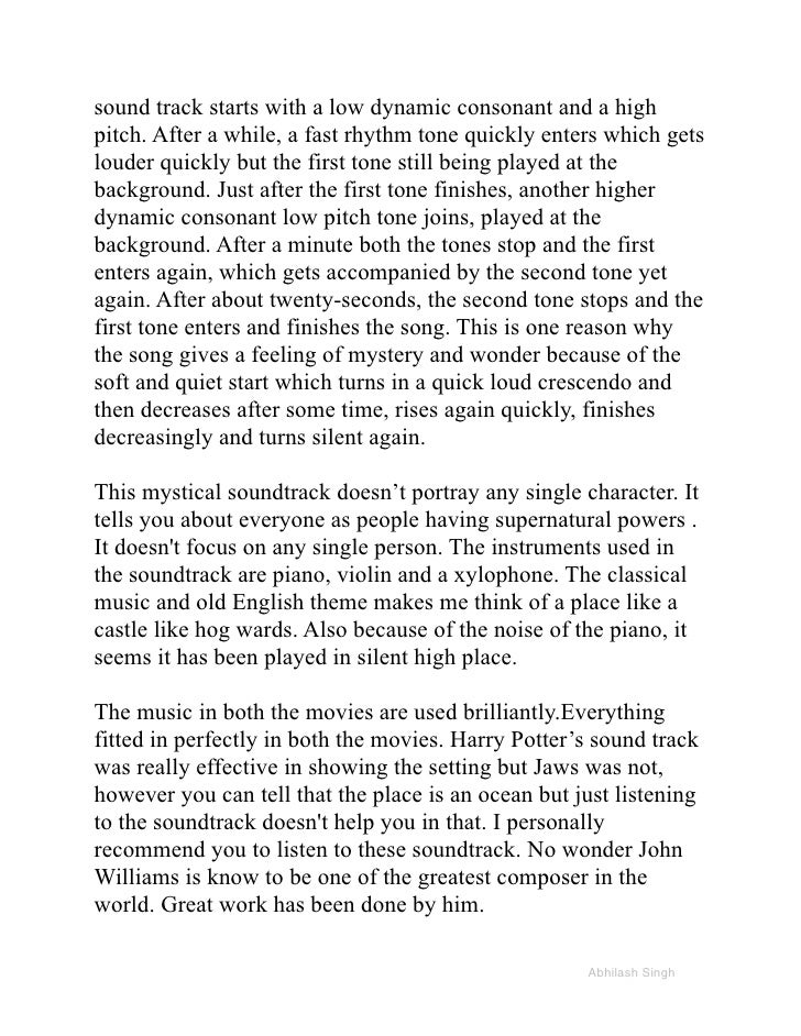 music essay the abhilash singh 3 sound