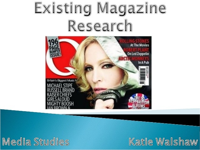 The Q magazine has a large title placed toward the top of the page. This makes it easy to identify and is the first thing ...