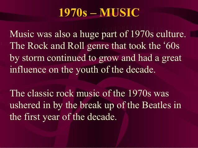 Music history 1970s