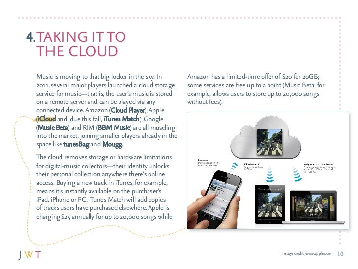 4.TakING IT TO  THE clOud Music is moving to that big locker in the sky. In         amazon has a limited-time offer of $20...