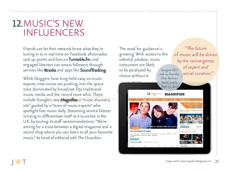 12.MuSIc'S NEW   INfluENcErS  friends can let their network know what they're           The need for guidance is          ...