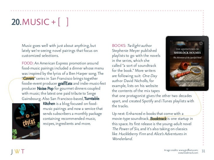 20.MuSIc + [ ]  Music goes well with just about anything, but          BOOkS: Twilight author  lately we're seeing novel p...