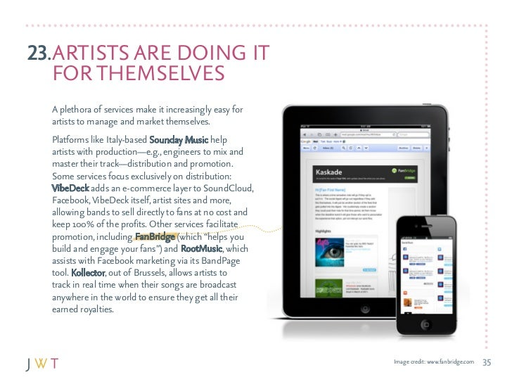 23.arTISTS arE dOING IT   fOr THEMSElvES  a plethora of services make it increasingly easy for  artists to manage and mark...
