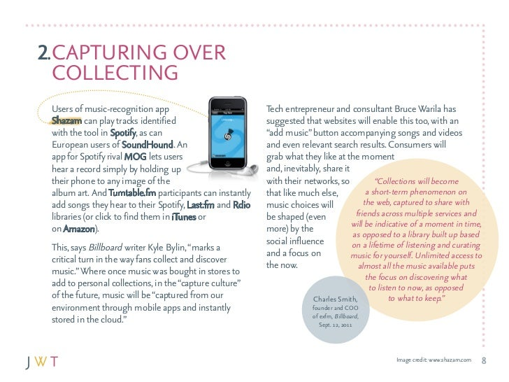 2.capTurING OvEr  cOllEcTING users of music-recognition app                           Tech entrepreneur and consultant Bru...