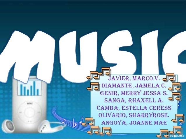 Javier, Marco V. Diamante, Jamela C. Genir, Merry Jessa S. Sanga, Rhaxell A. Camba, Estella Ceress Olivario, sharryrose. A...