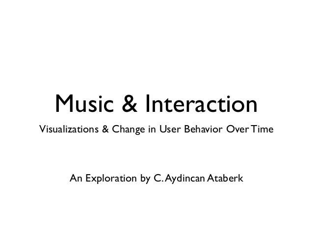 Music & Interaction Visualizations & Change in User Behavior Over Time An Exploration by C.Aydincan Ataberk