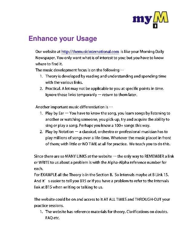Enhance your Usage