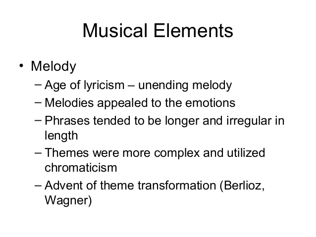 Extrêmement Music in the romantic era LV18