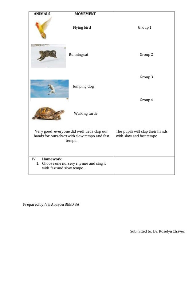 Music detailed lesson plan
