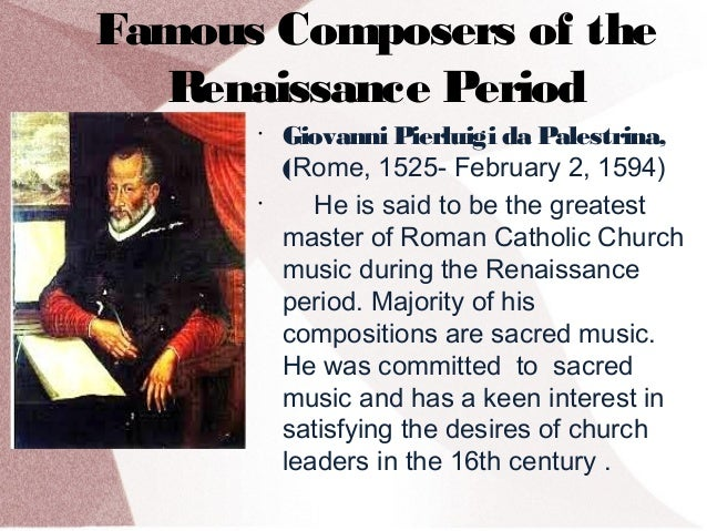 what exactly was the reaissance period essay The renaissance term papers available at search results this paper examines the issue of the few women composers who worked during the renaissance period.