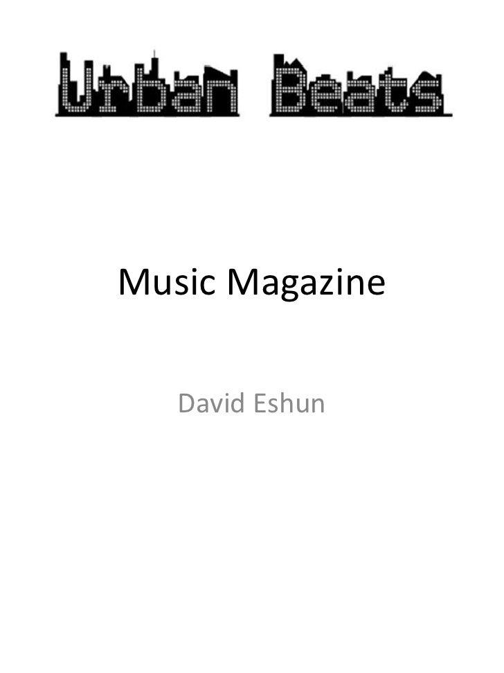 Music Magazine   David Eshun