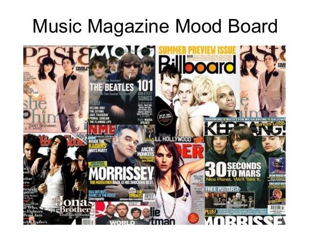 Music Magazine Mood Board