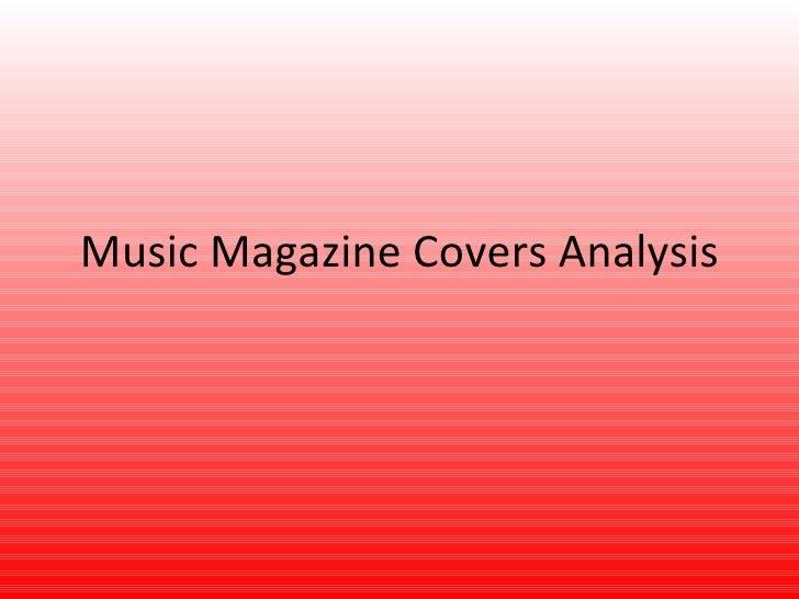 Music Magazine Covers Analysis