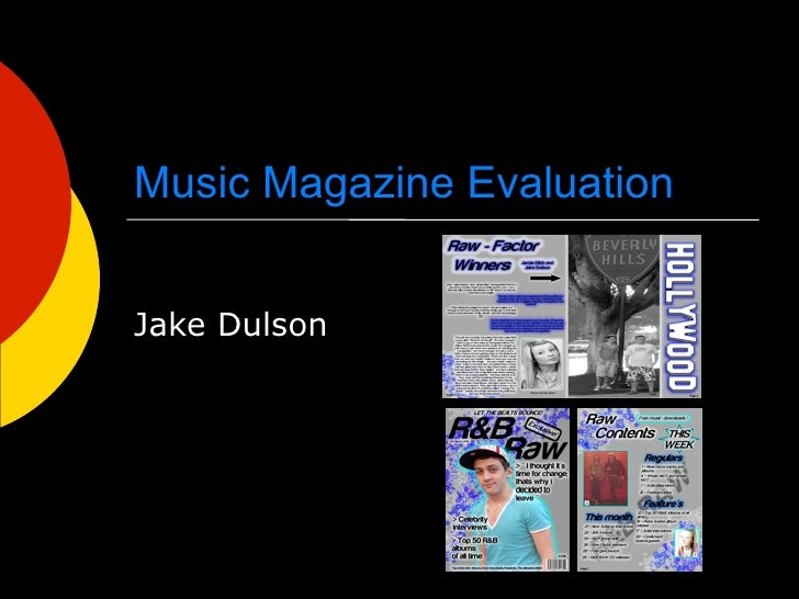 Music Magazine Evaluation   Jake Dulson