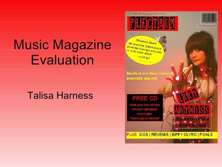 Music Magazine Evaluation Talisa Harness