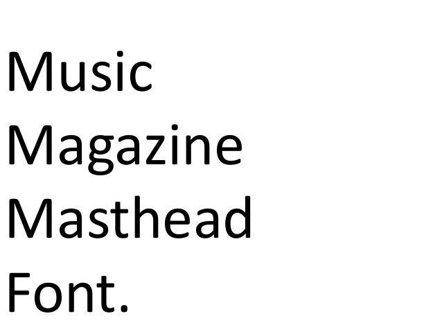 MusicMagazineMastheadFont.