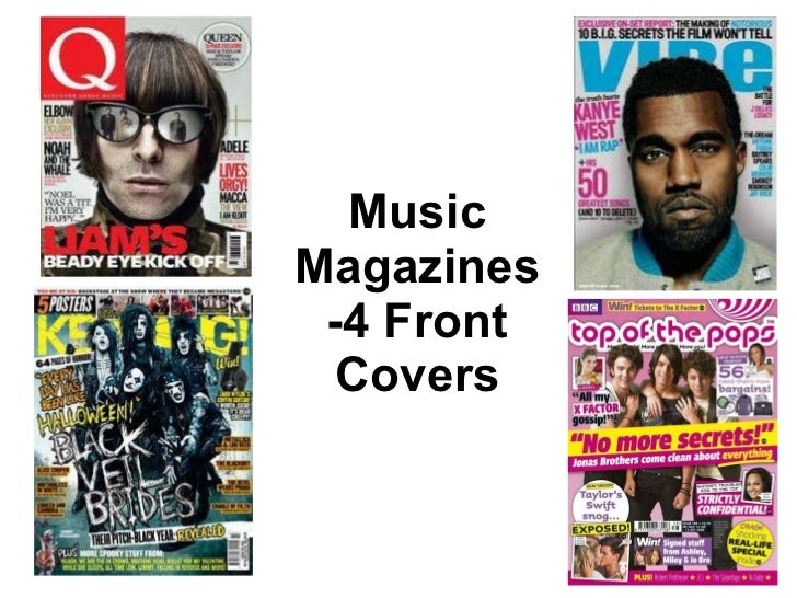 Music Magazines -4 Front Covers