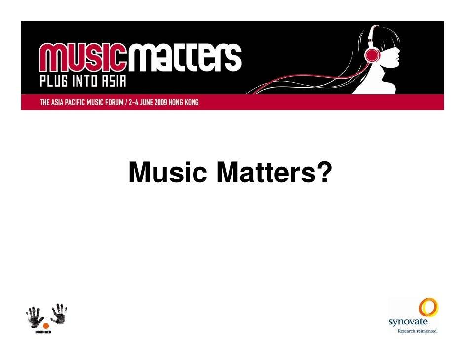 Music Matters?