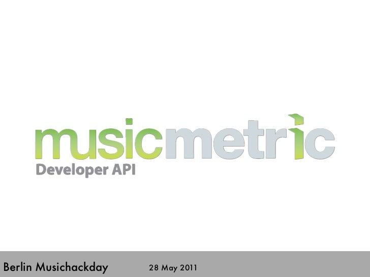 Berlin Musichackday   28 May 2011