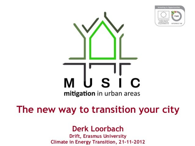 The new way to transition your cityDerk LoorbachDrift, Erasmus UniversityClimate in Energy Transition, 21-11-2012