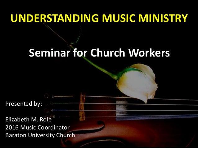 music ministry presentation