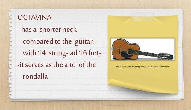 OCTAVINA - hasa shorter neck compared tothe guitar, with14 stringsad 16frets -itserves as thealto ofthe rondalla https://s...