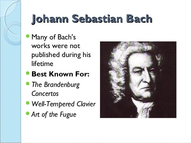 bach musical contributions