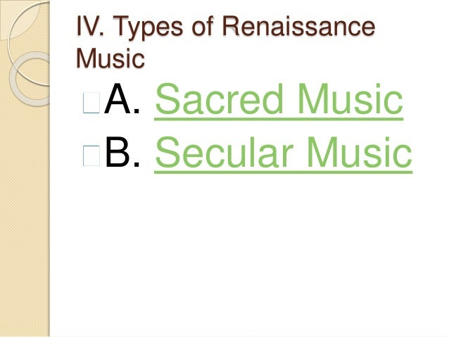 renaissance music meaning