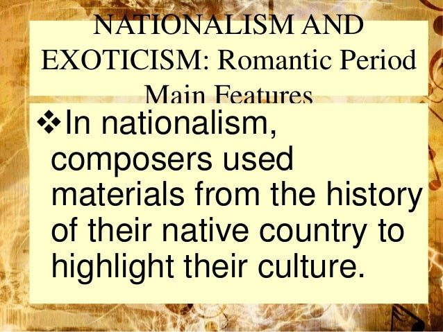 music of the romantic period The romantic period started with a literary movement in germany in the late 18th century later, the romantic ideas spread from germany to other european countries romanticism affected poets, drramatists, painters, dancers, and composers the characteristics of romantic music (1820-1900) are.