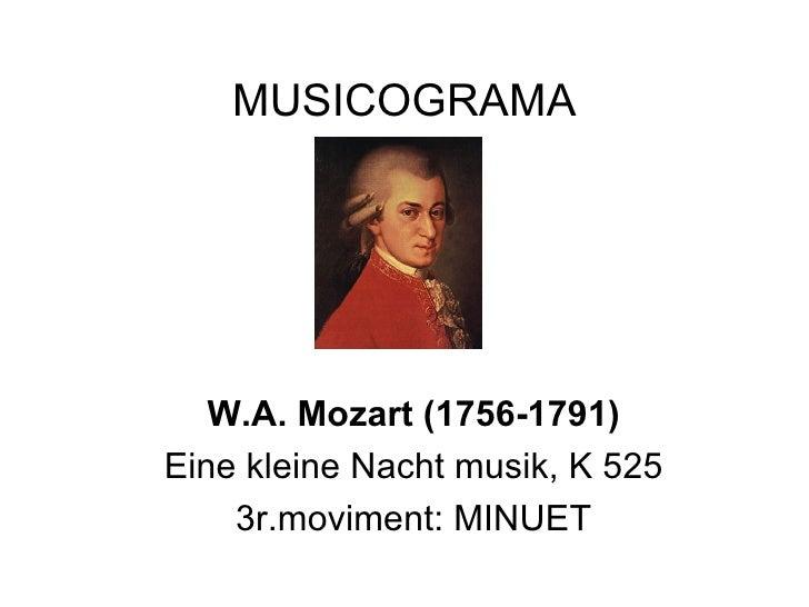 MUSICOGRAMA W.A. Mozart (1756-1791) Eine kleine Nacht musik, K 525 3r.moviment: MINUET