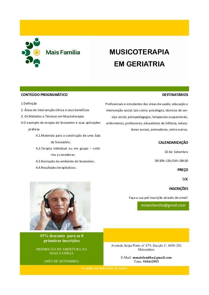 MUSICOTERAPIA                                                                EM GERIATRIACONTEÚDO PROGRAMÁTICO            ...