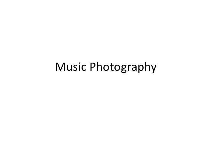 Music Photography<br />