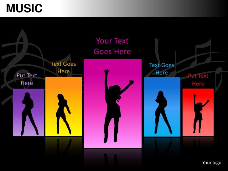 MUSIC                        Your Text                        Goes Here            Text Goes               Text Goes      ...