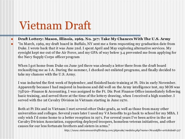 Draft letter going to war in vietnam essay