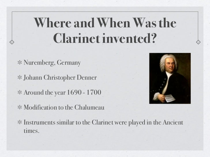 where was the clarinet invented
