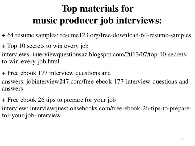 music producer resume samples - Ataum berglauf-verband com